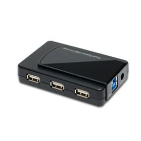 SYBA InfoZone Combo USB 3.0 + USB 2.0 7-port Hub with USB 3.0 Cable and AC Adapter (SY-HUB20078)