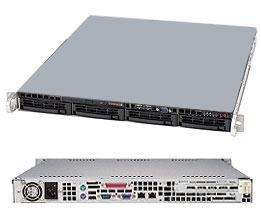 Supermicro SuperServer 5017C-MTF Black (Barebone) - 1U - LGA1155 - 4 x DDR3 ECC UDIMMS - 6 x SATA - 2 x LAN