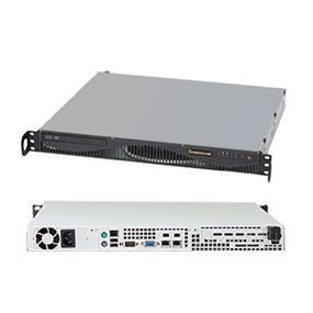 Supermicro SuperServer 5017C-MF Black (Barebone) - 1U - LGA1155 - 4 x DDR3 ECC UDIMM - 6 x SATA 2.0 - 2 x LAN