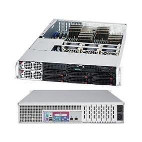 Supermicro A+ Server 2042G-6RF Black (Barebone) - 2U - Quad AMD Opteron G34 - 32 x DDR3 DIMM - 8P SAS2 - 6 x SATA2 - 2 x LAN - Redundant 1400W PSU