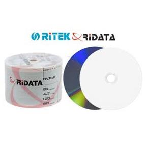 RiDATA DVD-R 8X 4.7GB White Inkjet Printable Spindle 50 Packs (DRD-47-8X-RDIW50N2)