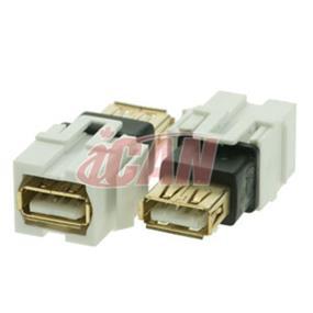 iCAN USB A/A Female/Female Coupler Keystone (KS USBAFAF)