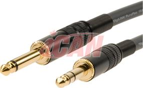 """iCAN 1/4"""" MONO to TRS 22AWG Silver OD=8mm - 6 ft. (PA1/4TRSMM-006)"""