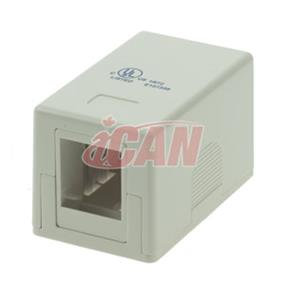 iCAN 1 Port Surface Mount Box CAT4/5/6 (RJ45 SMBOX-1WHI)