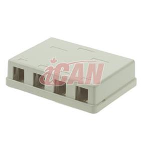 iCAN 4 Port Surface Mount Box CAT4/5/6 (RJ45 SMBOX-4WHI)