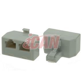 iCAN RJ11 Telephone 2-WAY Splitter (RJ11-1M2F)
