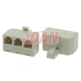 iCAN RJ11 Telephone 3-WAY Splitter (RJ11-1M3F)