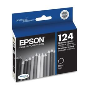 Epson 124 Black Ink Cartridge (T124120-S)