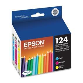 Epson 124 Tri-Color Ink Cartridges (T124520-S)