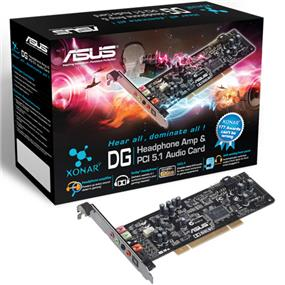 Asus Xonar DG - 5.1 Channel + Headphone Amp (GX2.5 Audio Engine) - PCI Audio Card