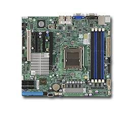 Supermicro H8SCM Motherboard - Socket C32 - AMD - 6 x SATA - 7 x USB 2.0 - DDR3 1333/1066/800 MHz - 2 x Intel GLan - Micro-ATX - Retail