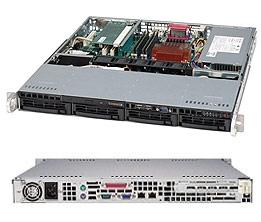 "Supermicro SuperChassis 813MTQ-350CB 1U Server Chassis - Black - 4 x 3.5"" Hot-Swap Drive Bay - 350W PSU"