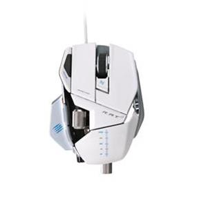 Mad Catz Cyborg R.A.T. 7 Contagion Wired Laser Gaming Mouse - Glossy White  (MCB4370800C1/04/1)