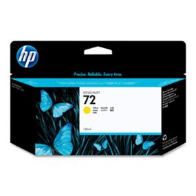 HP 72 Yellow 130ML Ink Cartridges (C9373A)