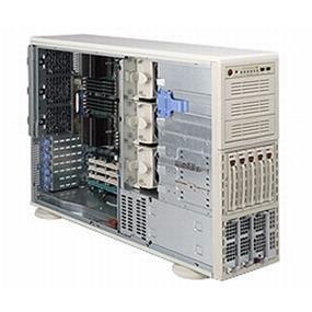 Supermicro SuperChassis 748TQ-R1000B 4U Pedestal Server Chassis - Black -  5 x SAS/SATA Bay - 1000W Redundant PSU