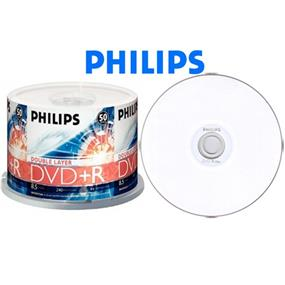 Philips DVD+R 8.5GB 8X Dual Layer White Inkjet Printable Surface 50 Packs (DR8I8B50P/17)