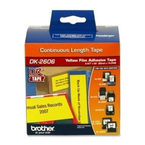 """Brother DK2606 Film Tape 2.44""""x50' 50Ft Yellow"""