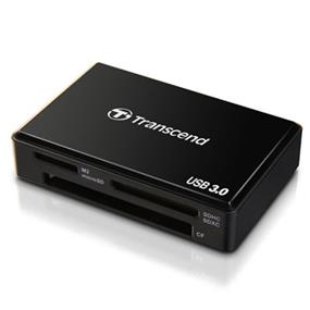 Transcend F8 USB3.0 Multi-Card Reader - Black (TS-RDF8K)