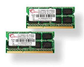 G.SKILL SQ Series 8GB (2x4GB) DDR3 1600MHz CL9 SODIMM Memory (F3-12800CL9D-8GBSQ)