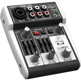 Behringer XENYX 302USB - 5 Input Compact Mixer with USB
