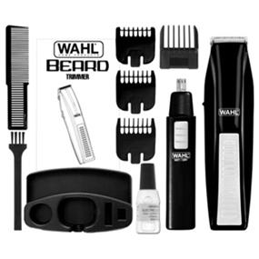 Wahl 5537-1801 Wireless Men's Beard & Ear/Nose Trimmer - Black (5537-1801)