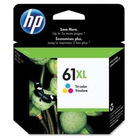 HP 61XL Tri-colour High Yield Original Ink Cartridge (CH564WN)