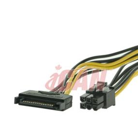 iCAN SATA Power Male to PCI Express Female for PCI Express Card (PWR SA15M-PCIE6)