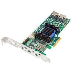 Adaptec RAID 6805E Storage Controller Card Kit(RAID) - 8 Channel - SATA-600 / SAS 2.0 low profile - 600 MBps - RAID 0, 1, 5, 10, JBOD, 1E, - PCI Express W/Cable  (2271800-R)