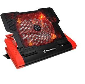 "Thermaltake Massive23 GT, Notebook Cooler - 230mm Red LED Fan, Black Metal Mesh Design, Up to 17"" Notebooks (CLN0019)"
