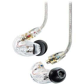 Shure SE215 - Sound-Isolating In-Ear Stereo Earphones (Clear)