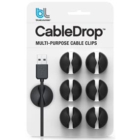 Bluelounge Cabledrop Adhesive Cable Holders Black (CD-BL)