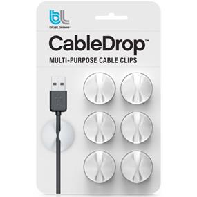 Bluelounge Cabledrop Adhesive Cable Holder White (CD-WH)