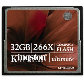 Kingston Ultimate 266x 32GB Compact Flash Card Upto 45MB/s Read,40MB/s Write (CF/32GB-U2)
