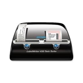 Sanford Dymo LabelWriter 450 Twin Turbo Label Printer, Thermal Transfer, Mono, 0.8 Sec, 600 x 300 dpi, USB (1756694)