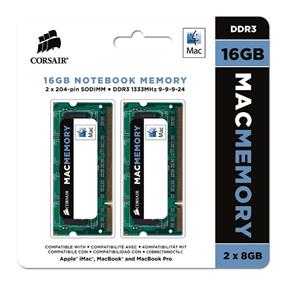 Corsair Apple Memory 16GB (2x8GB) 1333MHz DDR3 CL9 SODIMMs (CMSA16GX3M2A1333C9)