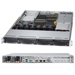 "Supermicro SuperServer (6017B-URF) - Dual Socket B2 (LGA 1356) - Up to 384GB DDR3 1600MHz ECC R/LRDIMM; 12x DIMM sockets - 1x UIO, 1x PCI-E 3.0 x8 Full-height Full-length Expansion Slot - Intel® i350 Dual port Gigabit Ethernet Controller; 2x LAN ports - 4x Hot-swap 3.5"" SAS/SATA HDD - 500W Redundant Power Supplies 80 PLUS, Platinum Level (94%+)"