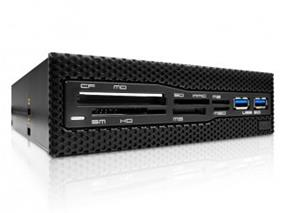 "NZXT Aperture M 5.25"" Internal Card Reader 2x USB3.0 Expansion Module"