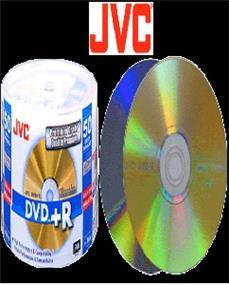 JVC/Taiyo Yuden DVD+R4.7GB/120min Premium Grade 16X Gold Lacquer, Full Logo (Branded) Surface 50pcs