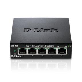 D-Link 10/100 DES-105 5-Port Desktop Switch with Metal Chassis
