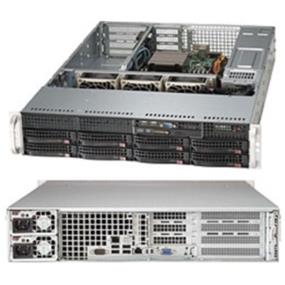"""Supermicro System SYS-5027R-WRF  2U - Intel C602 Chipset - 8x 3.5"""" Hot-swap drive bays - Up to 256GB RDIMM or 64GB UDIMM; DDR3 up to 1600MHz; 8x DIMM sockets - Expansion slots (PCI-E 3.0): 4 x8 Full-height & 1 x8 Low-profile - Intel i350 Dual Port Gigabit Ethernet - Integrated IPMI 2.0 and KVM with Dedicated LAN - SATA3 (6Gbps) w/ RAID 0, 1, 5, 10, SATA2 (3Gbps) w/ RAID 0, 1, 5, 10 - 500W Redundant Power Supplies 80PLUS Platinum Level (94%+) - SATA Disk-on-module (DOM) power connector"""