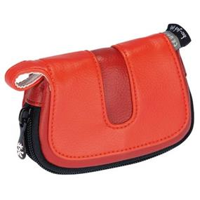 Crumpler Hoojah Pouch Large - for Compact Digital Camera with Spare Card and Battery (Light Red with Dark Red Accent)