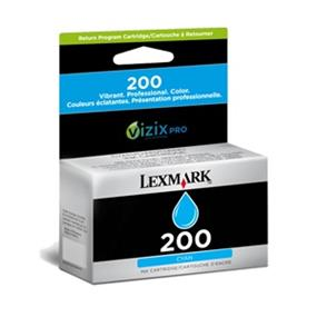 Lexmark #200 14L0086 Ink Cartridge - Cyan - Inkjet - 500 Page