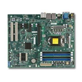 Supermicro MBD-C7Q67-H-O Motherboard - LGA1155 - Intel 2nd Generation Core i3/i5/i7 processor supported; Socket H2 - Intel Q67 Express chipset - Up to 32GB non-ECC DDR3 UDIMMs 1333MHz in 4 DIMM slots - 1 (x16) PCI-E 2.0, 1 (x4) PCI-E 2.0, 2 (x1) PCI-E, and 2 PCI 32-bit 5V slot - Intel 82579LM and 82574L Gigabit Ethernet Controller; 2 LAN ports - 2x SATA 3.0 (6Gb) w/ RAID 0, 1; 4x SATA 2.0 (3Gb) w/ RAID 0, 1, 5, 10