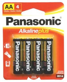 Panasonic Alkaline Plus AA-4 Batteries(4 pack) (AM3PA4B)