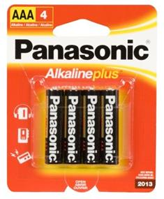 Panasonic Alkaline Plus AAA-4 batteries(4 pack)