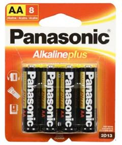 Panasonic Alkaline Plus AA-8 batteries (8 apck)