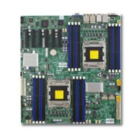 Supermicro Motherboard MBD-X9DRD-7LN4F-O - LGA 2011 - Dual socket R (LGA 2011) supports Intel Xeon processor E5-2600 - Intel C602J chipset; QPI up to 8.0GT/s  - Up to 512GB DDR3 1600MHz ECC Registered DIMM; 16x DIMM sockets - Expansion slots: 6 (x8) PCI-E 3.0 - Intel i350 GbE LAN (4 ports) - 4x SATA2 and 2x SATA3 ports - 8x SAS2 (6Gbps) ports via LSI 2308 - Integrated IPMI 2.0 and KVM with Dedicated LAN - 9x USB 2.0 ports (4 rear, 4 via header + 1 Type A)