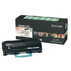 Lexmark X264H11G High Yield Return Program Black Toner Cartridge - Black - Laser - 9000 Page