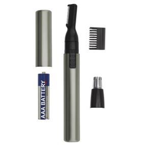 Wahl 5640-1001 Lithium Micro Groomsman Wet & Dry Personal Pen Trimmer with Detachable Rotary Vertical Head - Aluminum (5640-1001)