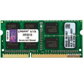 Kingston ValueRAM 8GB DDR3 1600MHz CL11 SODIMM (KVR16S11/8)